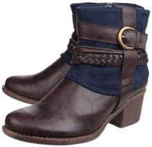 Divaz Vado zip up ankle boots
