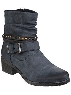 West zip up ankle boots