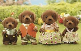 4514 Chocolate labrador family