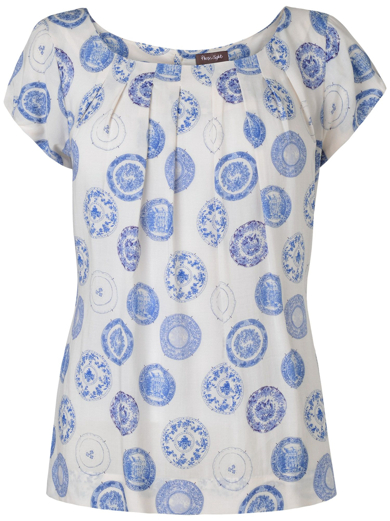 Margot plate print top