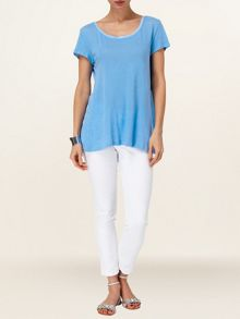 Maddie linen woven back top