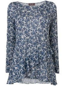 Floral Faryl Frill Top