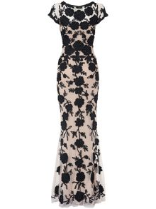 Leonora tapework full length dress