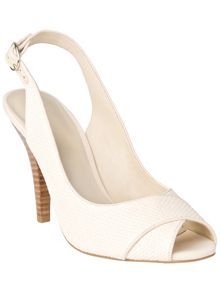 Rachel peep toe sling back shoes
