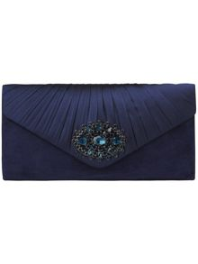 Darcy jewel suede clutch bag