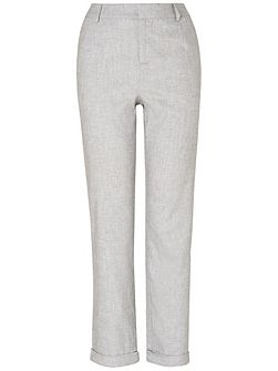 Jana tapered leg linen trousers