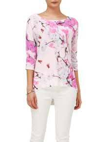 Phase Eight Sakura oriental print knit jumper