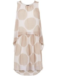 Bobby spot silk dress
