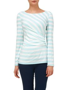 Flora fitted stripe top
