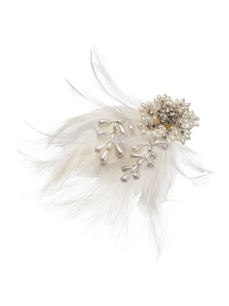 Phase Eight Edie feather hair piece