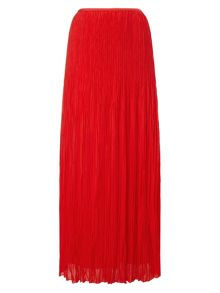 Avery crinkle pleat maxi skirt