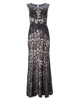 Pedra lace full length dress