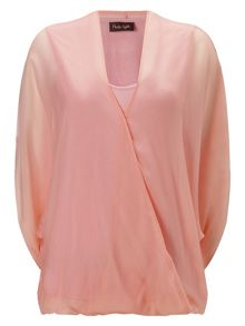 Phase Eight Hayden silk twist front kimono blouse
