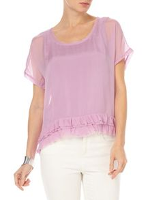 Phase Eight Serena silk frill hem blouse