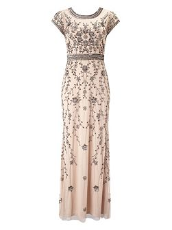 Ursula embellished full length dress