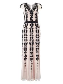 Francine embellished full length dress