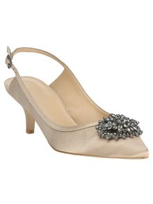 Dina jewel kitten heel shoes