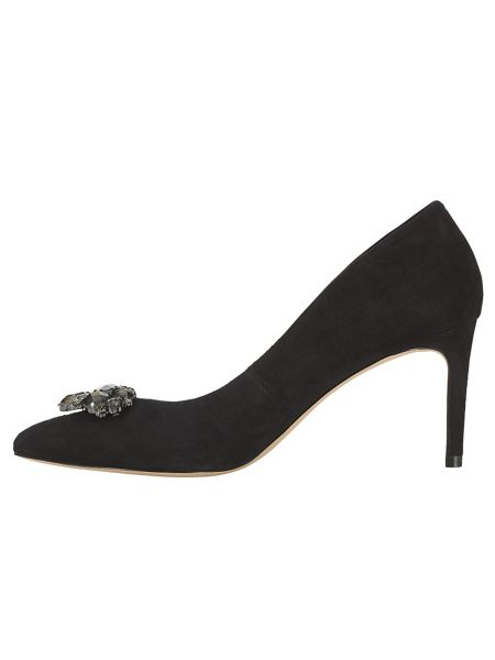 Phase Eight Dahlia suede jewel point heeled shoes
