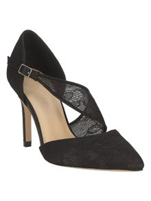 Remi lace point court shoes