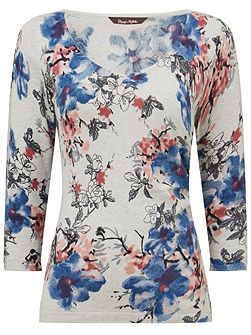Phase Eight Aletta Print Knit Top