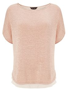 Tape yarn macey knit top
