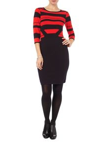Phase Eight Shavon knit stripe dress