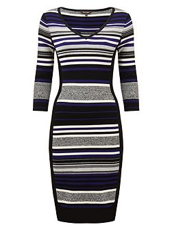 Fianna stripe knit dress