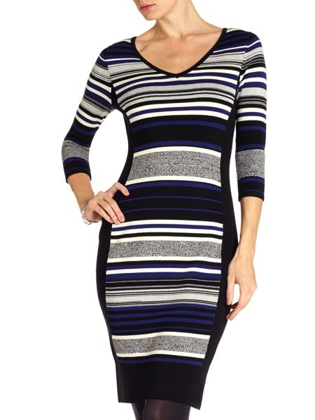 Phase Eight Fianna stripe knit dress