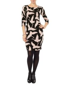 Phase Eight Brona bird print dress