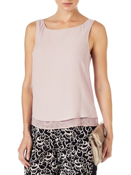 Phase Eight Vora crepe sleeveless blouse
