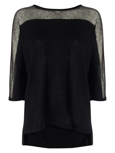 Phase Eight Sarina Sheer Shoulder Knit Top