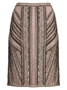 Ena beaded pencil skirt