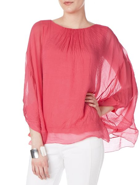 Phase Eight Mimosa oversized silk blouse