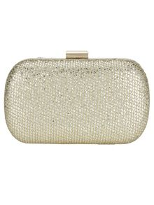 Phase Eight Lola glitter box clutch