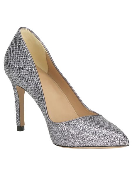 Phase Eight Lucie glitter point heeled shoes