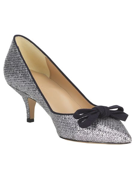 Phase Eight Liza kitten glitter point heeled shoes