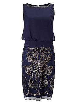Nuala embellished dress