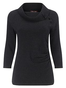 Shaniya Split Neck Knit Jumper