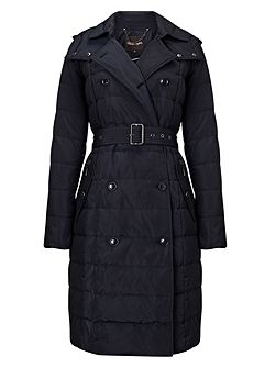 Emmalee double trench puffer coat
