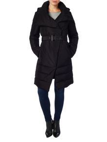 Cierra wrap neck puffer coat
