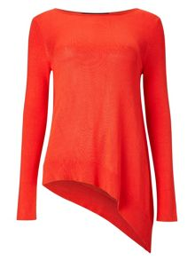 Amara asymmetric knit top