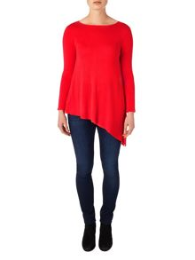 Phase Eight Amara asymmetric knit top