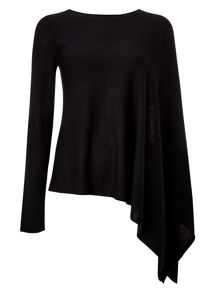 Ashton asymmetric knit top