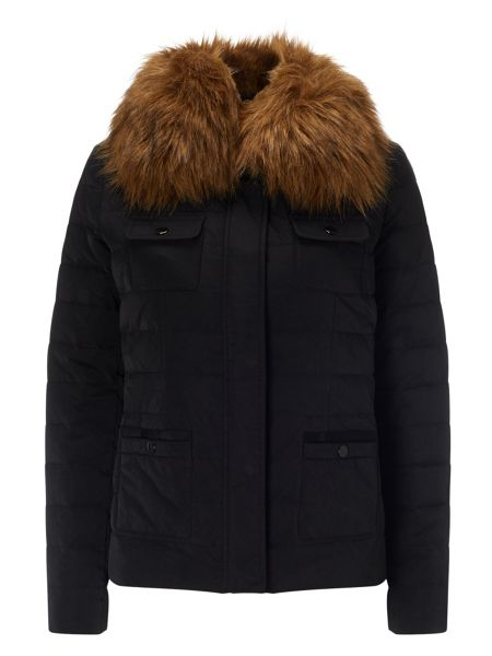 Phase Eight Jolie fur trim puffer