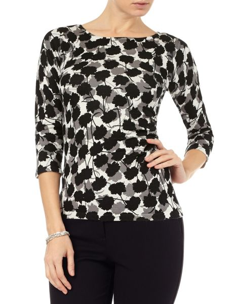 Phase Eight Leilani print knit top