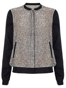 Phase Eight Sequin bomber jacket