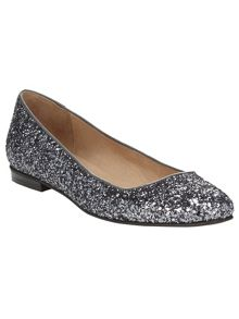 Phase Eight Lulu glitter flat shoes