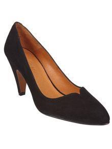 Abby leather court shoes