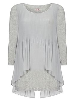 Betsy pleat split back blouse