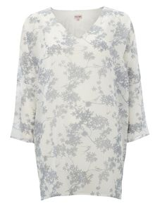 Phase Eight Blossom print v neck tunic